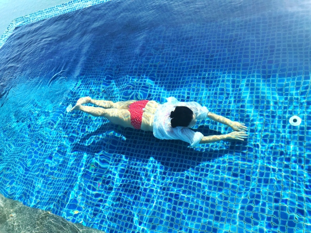 pool and me