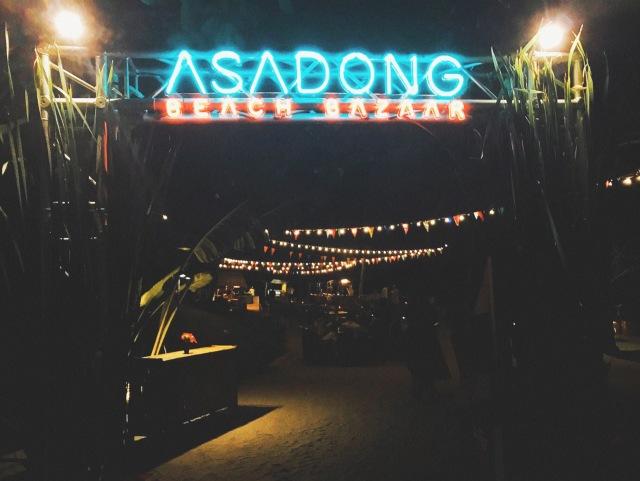 Asadong beach bazaar_Night market entrance