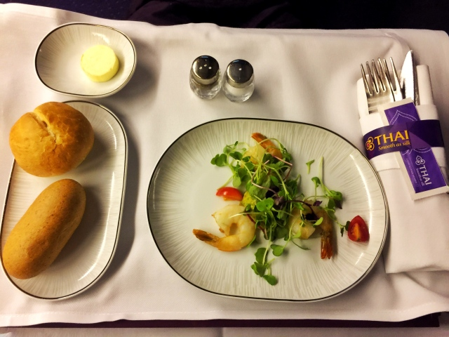 Thaiairways_thai shrimp salad