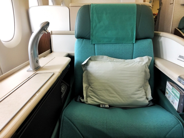 korean air first class seat